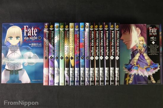 Fate//stay night vol.1~20 Complete Set JAPAN Type-Moon,Nishiwaki Datto manga LOT